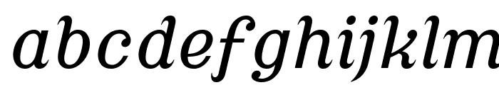 Cursive Serif Font LOWERCASE