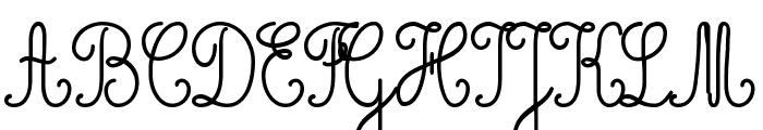 Cursivestandard Font UPPERCASE