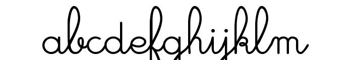 Cursivestandard Font LOWERCASE