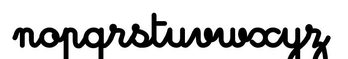 Cursivestandardbold Font LOWERCASE
