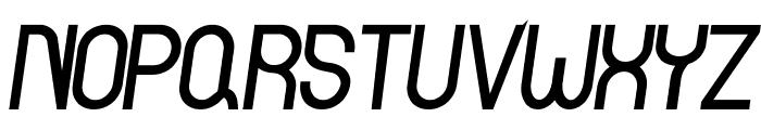 Curvada Bold Italic Font UPPERCASE