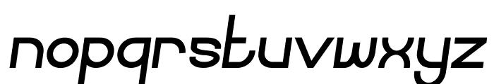 Curvada Bold Italic Font LOWERCASE