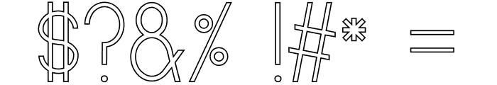 Curvada Outline Font OTHER CHARS