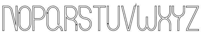 Curvada Outline Font UPPERCASE