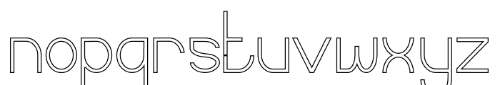 Curvada Outline Font LOWERCASE