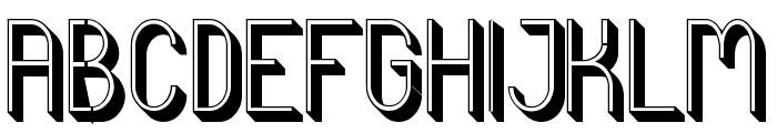 Curvada Shadow Font UPPERCASE