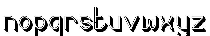 Curvada Shadow Font LOWERCASE