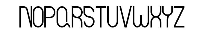 Curvada Font UPPERCASE