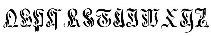 Curved-Manuscript--17th-c- Font UPPERCASE