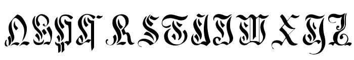 Curved-Manuscript--17th-c- Font LOWERCASE