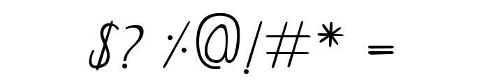 Curzab Font OTHER CHARS