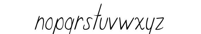 Curzab Font LOWERCASE