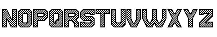 Cut the paper Regular Font UPPERCASE