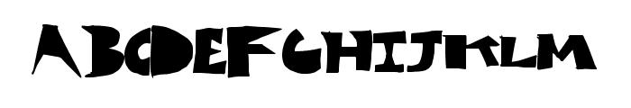 CutBlox Font LOWERCASE