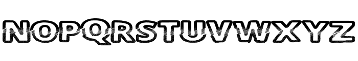 CutFive Font UPPERCASE