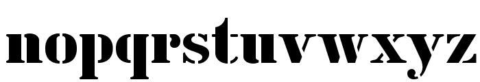 CutOutsFLF Font LOWERCASE