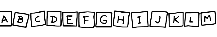 Cute Notes Font UPPERCASE