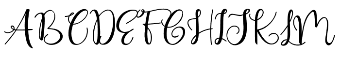 Cute Thing Script (Demo) Font UPPERCASE