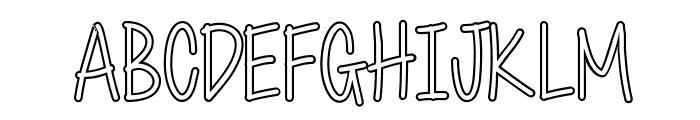 Cutie Patootie Hollow Font UPPERCASE