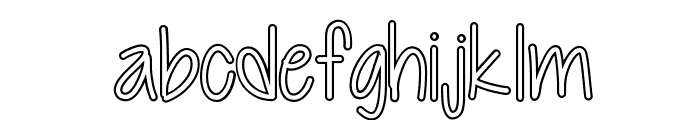 Cutie Patootie Hollow Font LOWERCASE