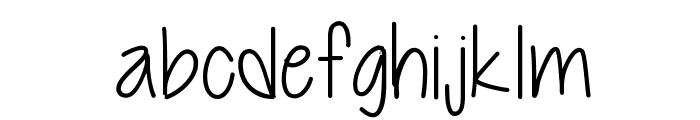 Cutie Patootie Skinny Font LOWERCASE