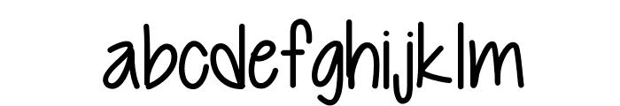 Cutie Patootie Font LOWERCASE