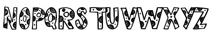 Cutie Pie Font UPPERCASE