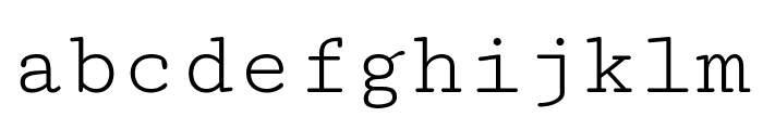 Cutive Mono Regular Font LOWERCASE