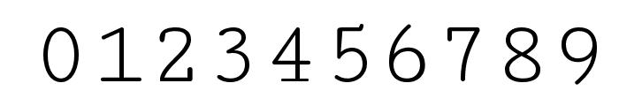 Cutive Mono Font OTHER CHARS