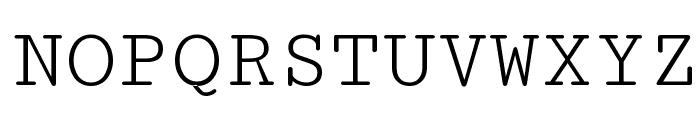Cutive Mono Font UPPERCASE
