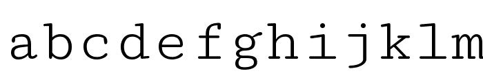 Cutive Mono Font LOWERCASE