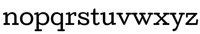 Cutive Regular Font LOWERCASE
