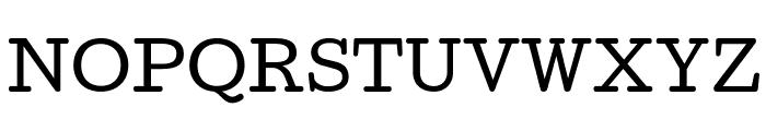 Cutive Font UPPERCASE