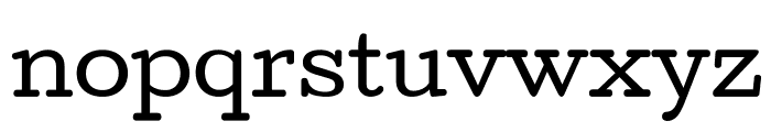Cutive Font LOWERCASE