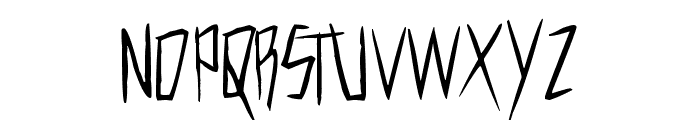 Cutthroat Clawmarks Font UPPERCASE
