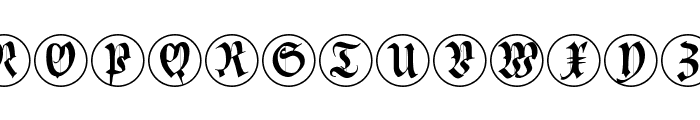CuxhavenInitialsRound Font LOWERCASE