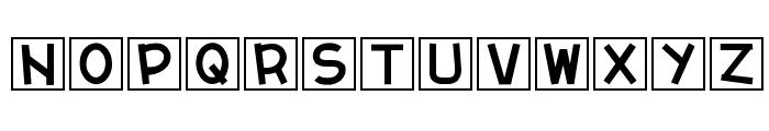 cube vol.2 Font UPPERCASE