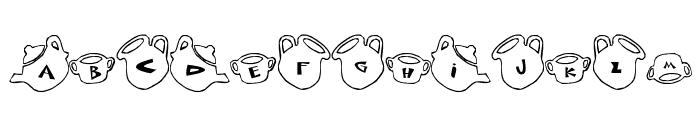 cup Font Font UPPERCASE