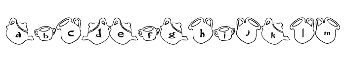 cup Font Font LOWERCASE