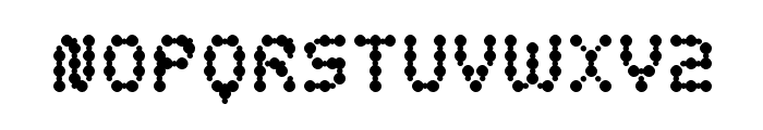curly lava bubble Font UPPERCASE