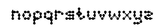 curly lava bubble Font LOWERCASE