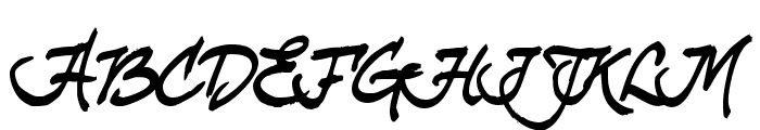 curlyJoe Font UPPERCASE
