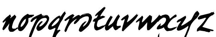 curlyJoe Font LOWERCASE