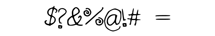 curlywurly Font OTHER CHARS