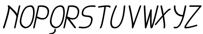 cursi extra tfb Italic Font UPPERCASE