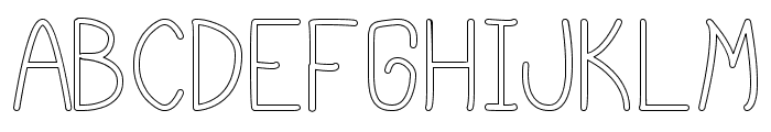 cursi extra tfb hollow Font LOWERCASE