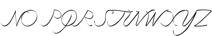curve font Font UPPERCASE