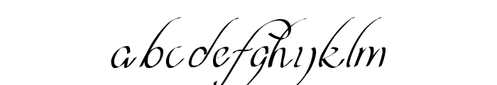 curve font Font LOWERCASE