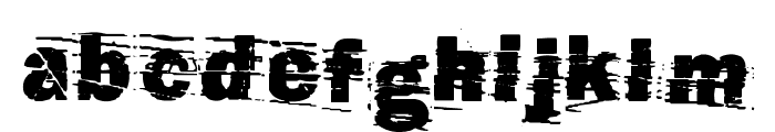 cut n paste Font LOWERCASE