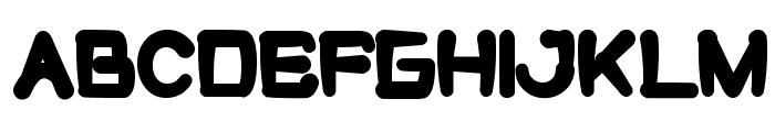 cute monster Font UPPERCASE